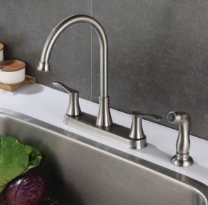 PARLOS 8 Inch Two Handles High Arch Kitchen Sink Faucet