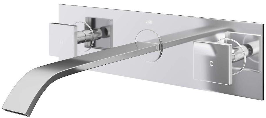 VIGO Two Handle Wall Mount Bathroom Faucet
