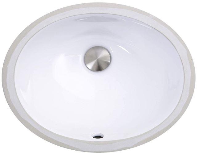 Nantucket Oval Ceramic Undermount Vanity Sink
