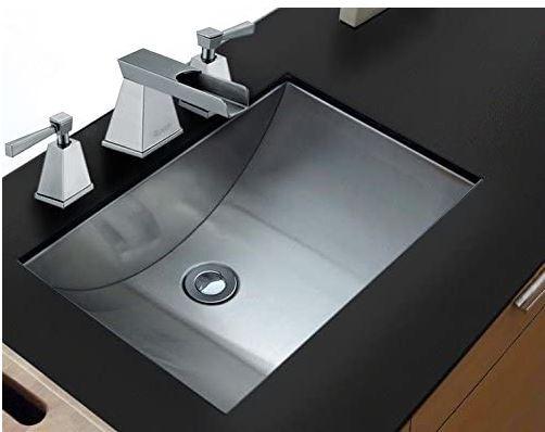 stainless steel undermount bathroom sink